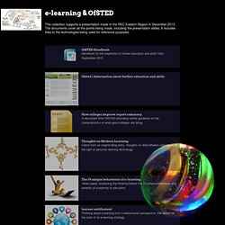 VLE design and OfSted