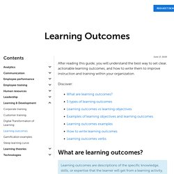 Learning Outcomes: Types, Examples, Verbs