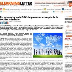 Du e-learning au MOOC : le parcours exemple de la Société Générale