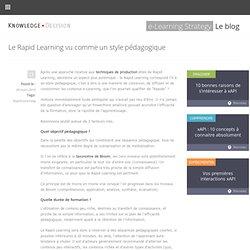 Le Rapid Learning vu comme un style pédagogique