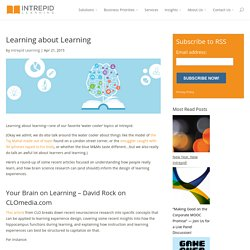Learning About Learning: How People Really Learn (3 articles)