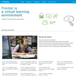 Learning platform tools and features - LMS - VLE - Fronter Global