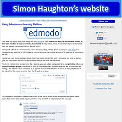 Using Edmodo as a Learning Platform - Simon Haughton's Blog