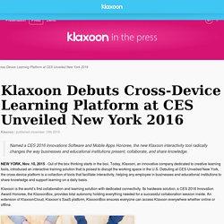 Klaxoon: Cross-Device Learning Platform