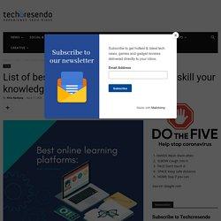 Best online Learning platforms: Top Education course platforms like Udemy