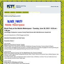 Mobile Learning Playground 2015 - ISTE Mobile Learning Network
