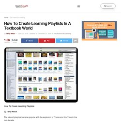 How To Create Learning Playlists In A Textbook World