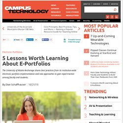 5 Lessons Worth Learning About E-Portfolios