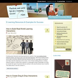 The Rapid eLearning Blog - Practical, real-world tips for e-learning success.
