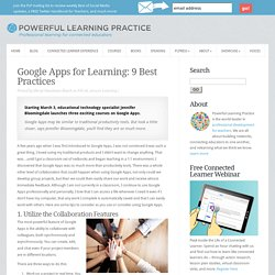 Google Apps for Learning: 9 Best Practices