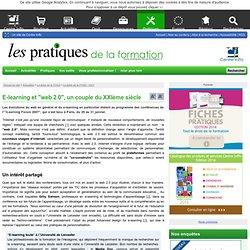 """E-learning et """"web 2.0"""", un couple du XXIème siècle"""