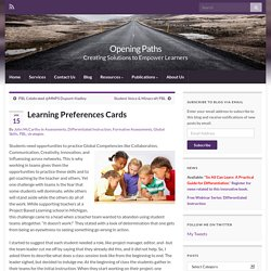 Learning Profile Cards » Opening Paths