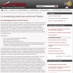 Le e-learning prend son envol en France