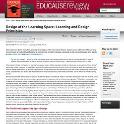 Design of the Learning Space: Learning and Design Principles