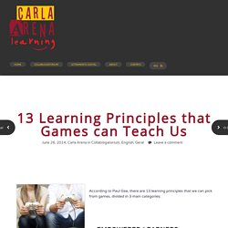 Gee 13 Learning Principles that Games can Teach Us