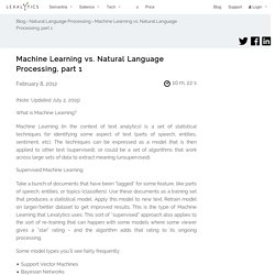 Machine Learning vs. Natural Language Processing, part 1 - Lexalytics