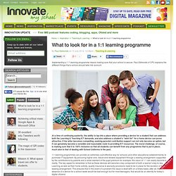 What to look for in a 1:1 learning programme