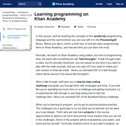 Learning programming on Khan Academy