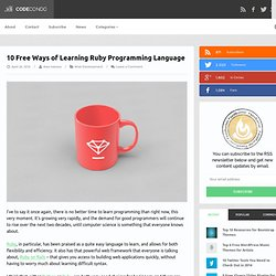 10 Free Ways of Learning Ruby Programming Language