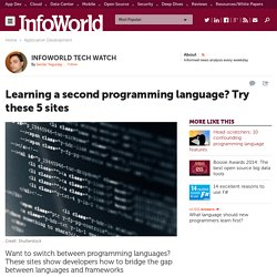 Learning a second programming language? Try these 5 sites