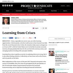 Learning from Crises - Harold James - Project Syndicate