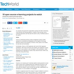10 open source e-learning projects to watch - Collaboration - Open Source
