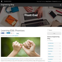 Learning ES6: Promises