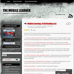 Mobile Learning: A 5th Reading List