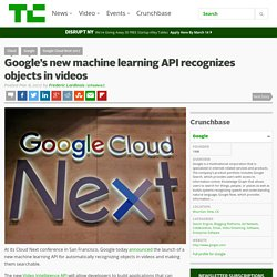 Google's new machine learning API recognizes objects in videos – TechCrunch