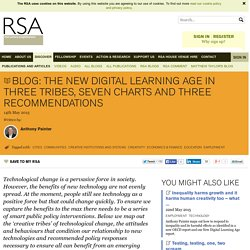 Blog: The new digital learning age in three tribes, seven charts and three recommendations
