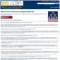 UCI Machine Learning Repository: Breast Cancer Wisconsin (Original) Data Set: Support