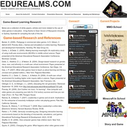 Game-Based Learning Research