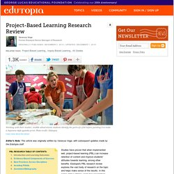Project-Based Learning Research Review