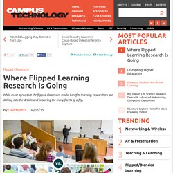 Where Flipped Learning Research Is Going