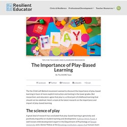 Play-based Learning: The Concept of Kids Learning by Playing