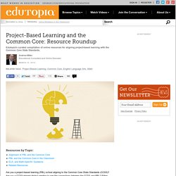 Project-Based Learning and the Common Core: Resource Roundup