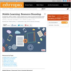Mobile Learning: Resource Roundup