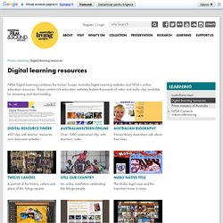 Digital learning resources // National Film and Sound Archive, Australia