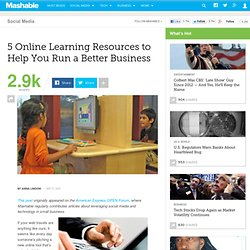 5 Online Learning Resources to Help You Run a Better Business