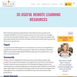 35 Useful Remote Learning Resources - Lucky Little Learners