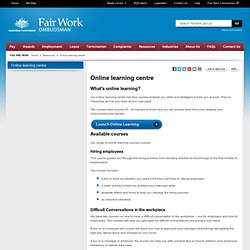 Online learning centre - Resources