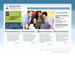 Beacon Learning Center - Online Resources for Teachers and Students