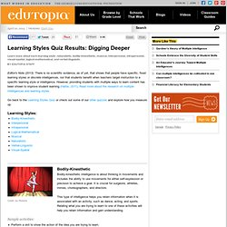 Learning Styles Quiz Results: Digging Deeper