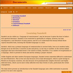 learning tools : Sanskrit Documents