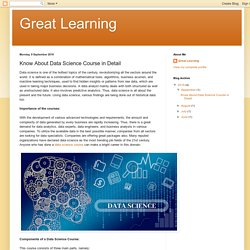 Know About Data Science Course in Detail