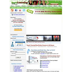 Rapid Learning Center - Science and Math Visually in 24 Hours
