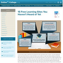 15 Free Learning Sites You Haven't Heard of Yet