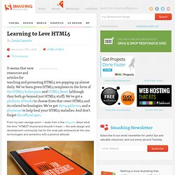 Learning to Love HTML5 - Smashing Magazine