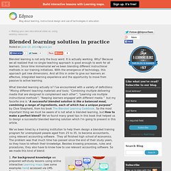 Blended learning solution in practice