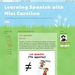 Learning Spanish with Miss Carolina : junio 2015